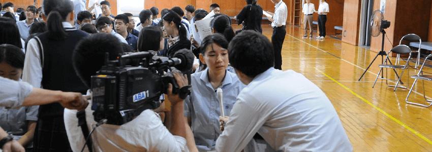 青森山田高校で実施したオンライン授業が「スーパーJチャンネル」等テレビで多数紹介されました